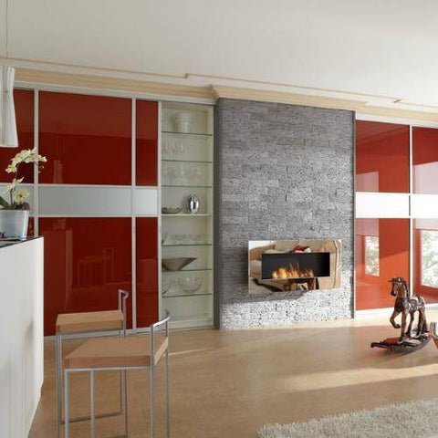 Image of Decoflame New York Plaza Wall Fireplace (Copper)-Modern Ethanol Fireplaces