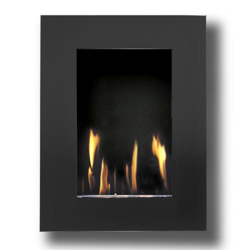 Decoflame New York Tower Wall Fireplace (Black)-Modern Ethanol Fireplaces