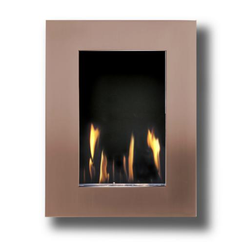 Decoflame New York Tower Wall Fireplace (Copper)-Modern Ethanol Fireplaces