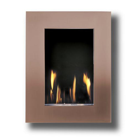 Image of Decoflame New York Tower Wall Fireplace (Copper)-Modern Ethanol Fireplaces