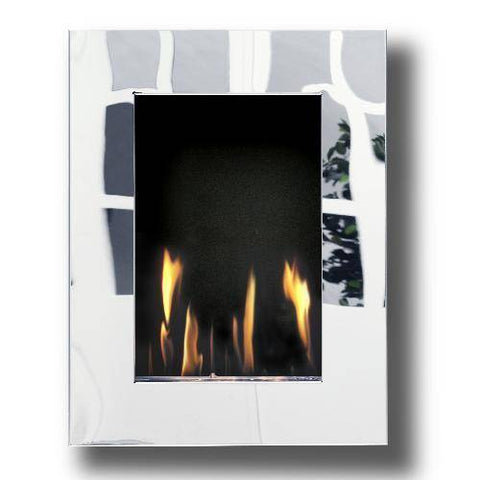 Image of Decoflame New York Tower Wall Fireplace (Mirror)-Modern Ethanol Fireplaces