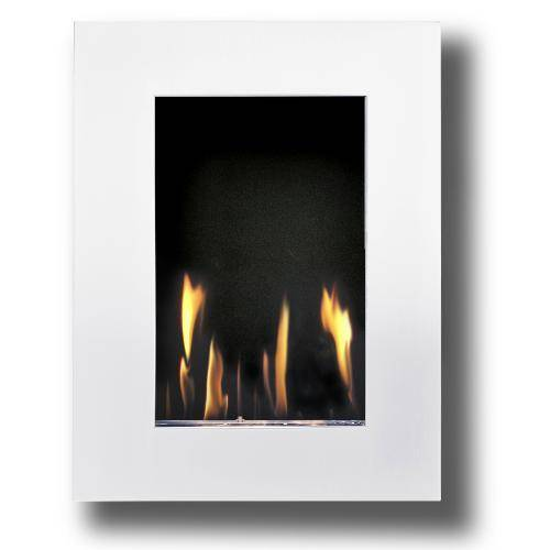 Decoflame New York Tower Wall Fireplace (White)-Modern Ethanol Fireplaces