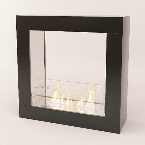 Image of Decoflame Sydney Free-Standing Fireplace (Black)-Modern Ethanol Fireplaces