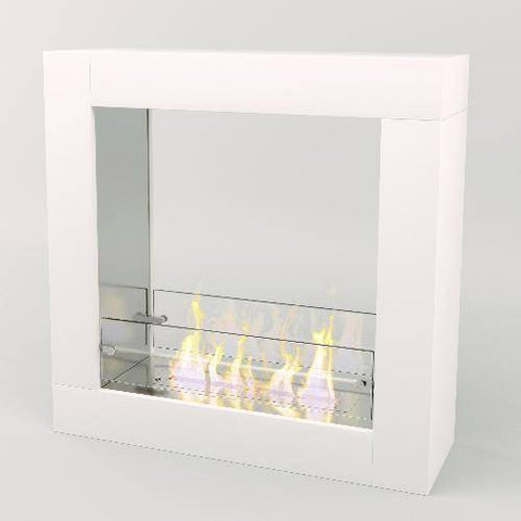 Image of Decoflame Sydney Free-Standing Fireplace (White)-Modern Ethanol Fireplaces