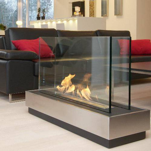 "Decoflame World Empire Free-Standing Fireplace (Large - 43""x15""x26"")-Modern Ethanol Fireplaces"