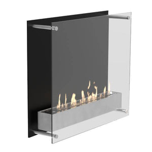 Decoflame Atlantic Tower Wall Manual Ethanol Fireplace - 19 inches-Modern Ethanol Fireplaces