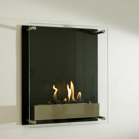Image of Decoflame Atlantic Tower Wall Manual Ethanol Fireplace - 19 inches-Modern Ethanol Fireplaces