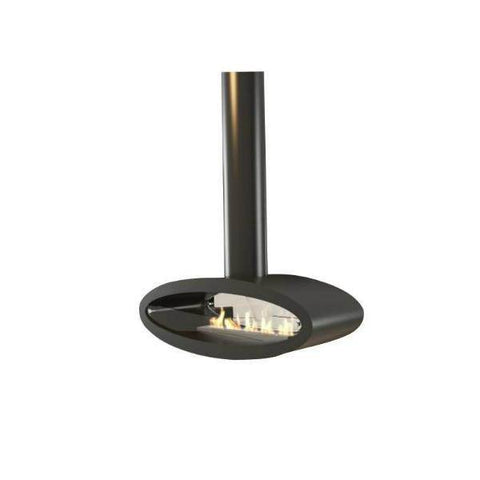 Decoflame Ellipse Ceiling Mounted Manual Ethanol Fireplace-44 inch-Modern Ethanol Fireplaces