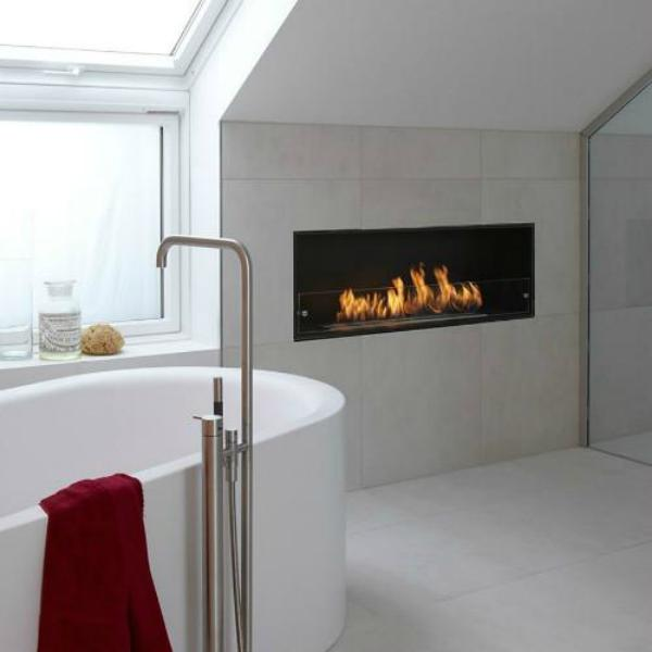 Decoflame Montreal Recessed Manual Ethanol Fireplace-Modern Ethanol Fireplaces