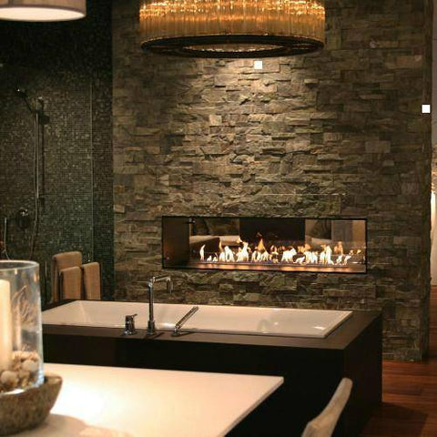 Image of Decoflame Montreal Recessed Manual Ethanol Fireplace-Modern Ethanol Fireplaces