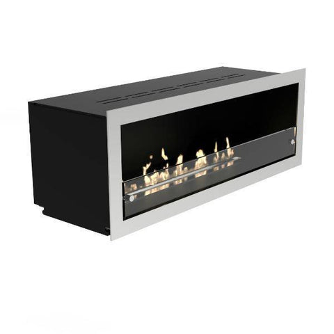 Decoflame Orlando Recessed Manual Ethanol Fireplace-Modern Ethanol Fireplaces
