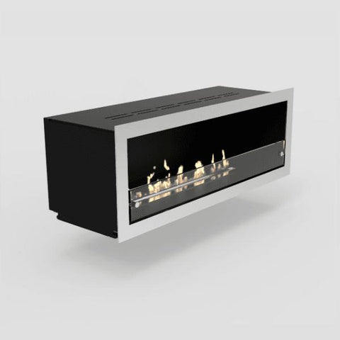 Image of Decoflame Orlando Recessed Manual Ethanol Fireplace-Modern Ethanol Fireplaces