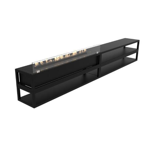 Decoflame Torino Multi E-Ribbon Recessed Ethanol Fireplace- 86 inch-Modern Ethanol Fireplaces
