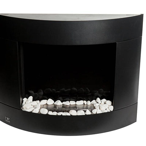 Bio-Blaze Diamond II Black Ventless Wall Fireplace (BB-DB2)-Modern Ethanol Fireplaces