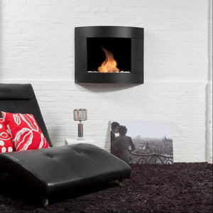 Bio-Blaze Diamond II Black Ventless Wall Fireplace (BB-DB2)