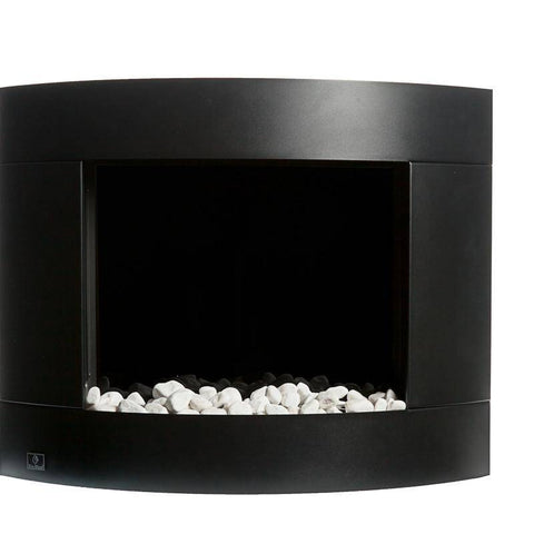 Image of Bio-Blaze Diamond I Black Ventless Wall Fireplace (BB-DB1)-Modern Ethanol Fireplaces