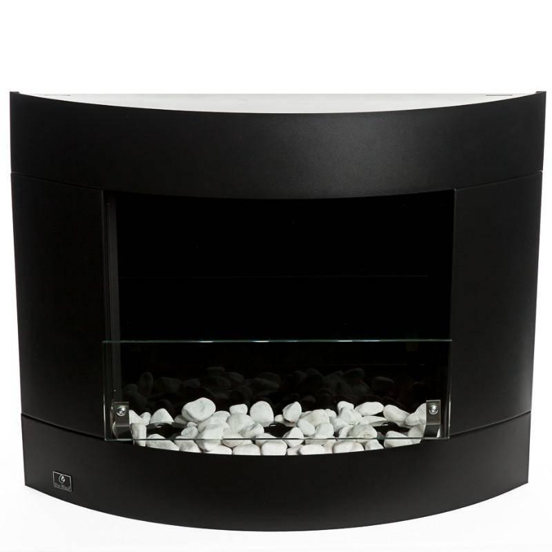 Bio-Blaze Diamond I Black Ventless Wall Fireplace (BB-DB1)-Modern Ethanol Fireplaces