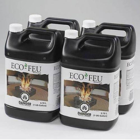Eco-Feu Bio Ethanol Fireplace Fuel - 4 Gallons-Modern Ethanol Fireplaces