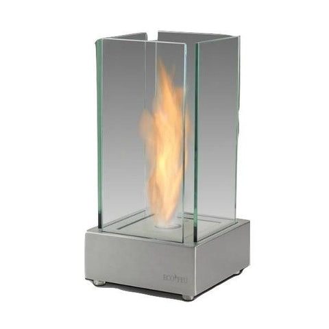 "Image of Eco-Feu Cartier 7"" Stainless Steel Tabletop Ethanol Fireplace TT-00106-Modern Ethanol Fireplaces"