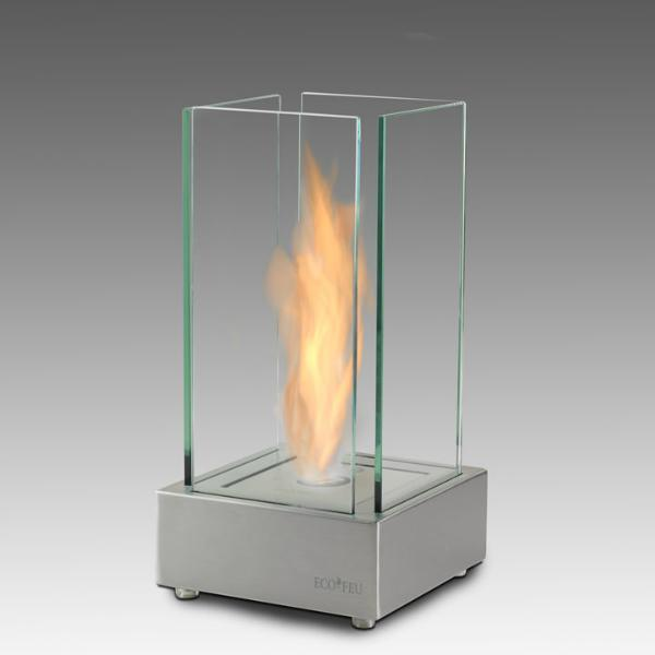 "Eco-Feu Cartier 7"" Stainless Steel Tabletop Ethanol Fireplace TT-00106-Modern Ethanol Fireplaces"