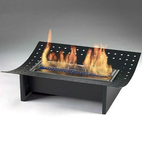 "Image of Eco-Feu Insert XL 19"" Black Ethanol Fireplace Grate w/ Pour Spout FS-00054-Modern Ethanol Fireplaces"