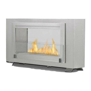 "Eco-Feu Montreal 41"" Stainless Steel 2-Sided Ventless Ethanol Fireplace WS-00133-Modern Ethanol Fireplaces"