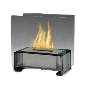 "Eco-Feu Paris 7"" Black Tabletop Ethanol Fireplace with Fuel TT-00134-Modern Ethanol Fireplaces"