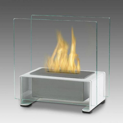 "Eco-Feu Paris 7"" Stainless Steel Tabletop Ethanol Fireplace with Fuel TT-00136-Modern Ethanol Fireplaces"