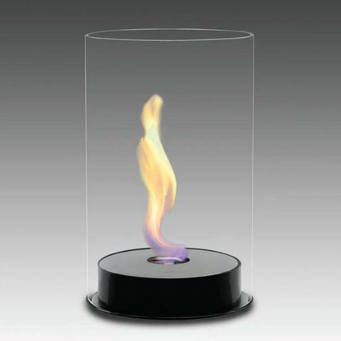 "Image of Eco-Feu Romeo 9"" Gloss Black Tabletop Ethanol Fireplace TT-00103-Modern Ethanol Fireplaces"