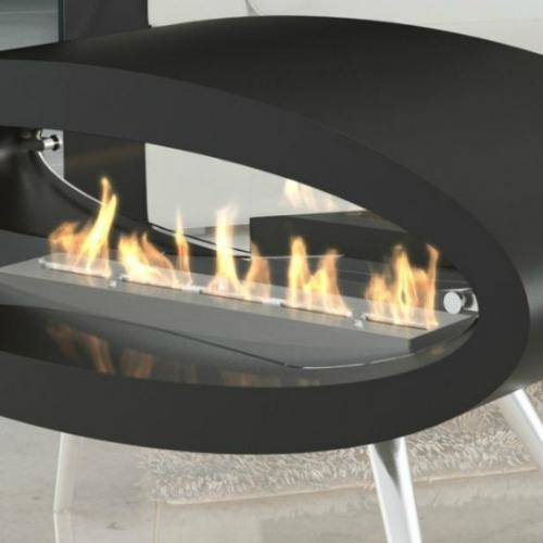 Decoflame Ellipse Free-Standing Fireplace-Modern Ethanol Fireplaces