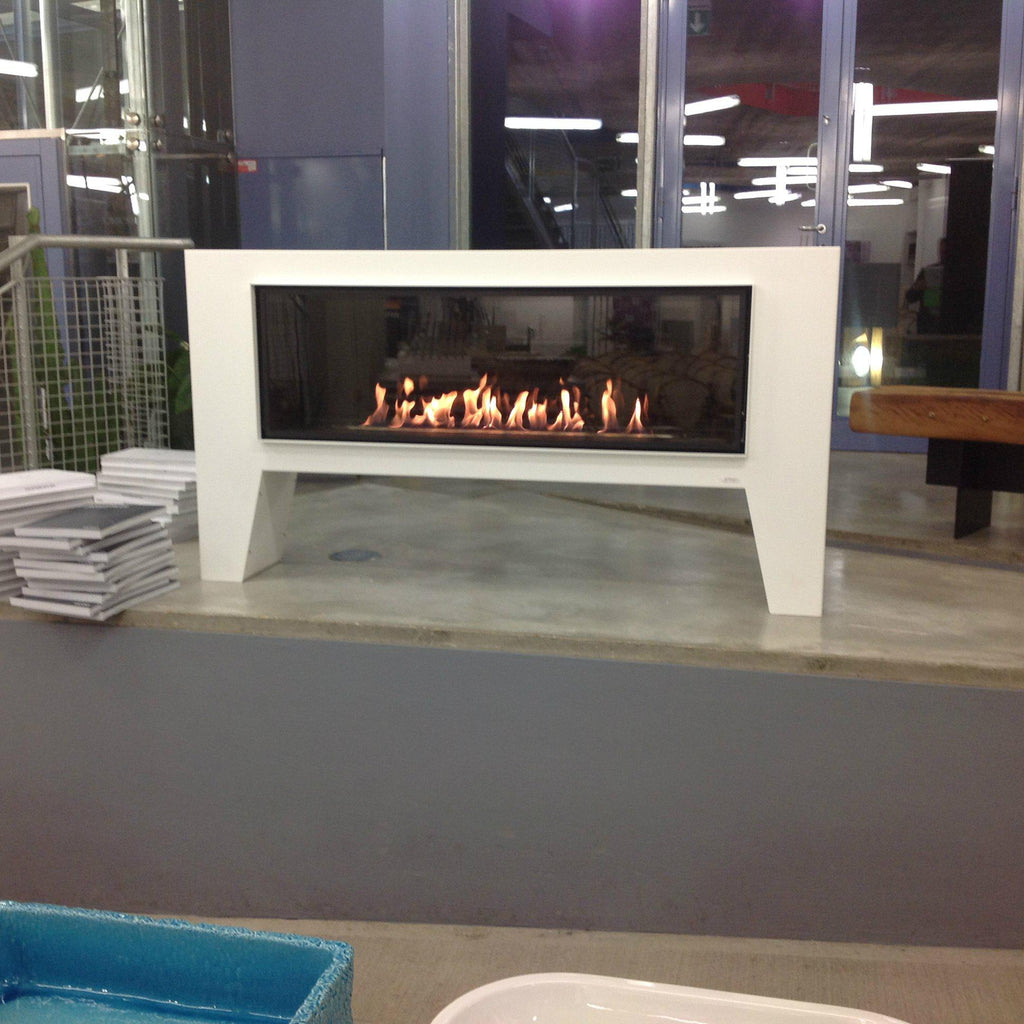 "GlammFire Fogly EVOPlus Automatic Free-Standing Ethanol Fireplace 59""-Modern Ethanol Fireplaces"