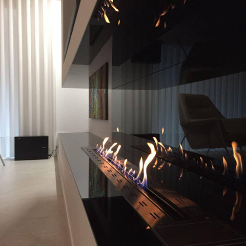 "Image of Glammfire Fire Line EVOPlus Automatic Ethanol Fireplace Insert With Remote Control 30"" - 108""-Modern Ethanol Fireplaces"