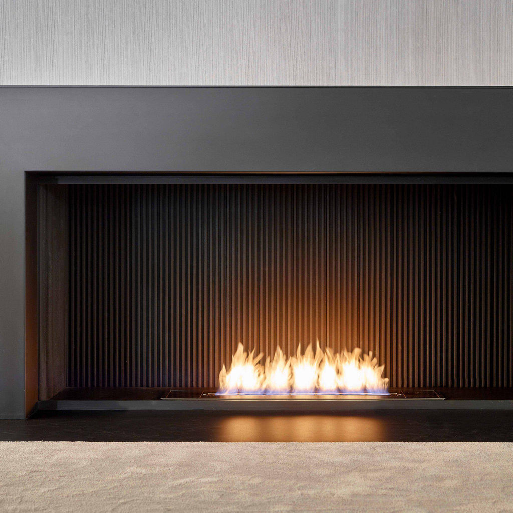 "Glammfire Fire Line EVOPlus Automatic Ethanol Fireplace Insert With Remote Control 30"" - 108""-Modern Ethanol Fireplaces"