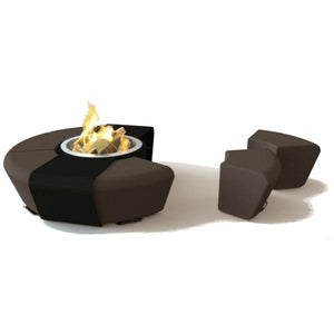 GlammFire Circus Outdoor Fire Pit with Benches - 15 inches