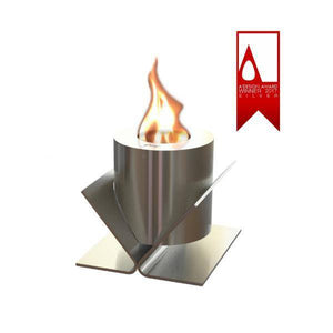 GlammFire Kivo Tabletop Ethanol Fireplace - 5 inches