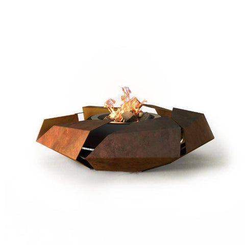 Image of GlammFire Stravaganza Outdoor Fire Pit - 19 inch-Modern Ethanol Fireplaces