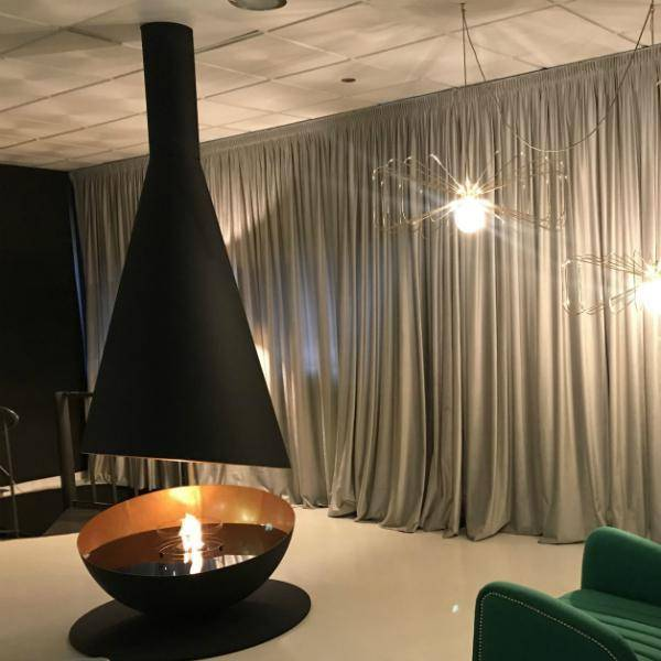 GlammFire Thales Hanging Ethanol Fireplace - 98 inches-Modern Ethanol Fireplaces
