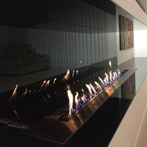 Image of Glammfire Fire Line EVOPlus 1600 Ethanol Fireplace Insert with Remote Control-Modern Ethanol Fireplaces