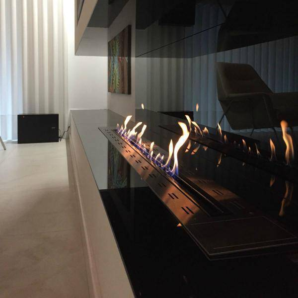 Glammfire Fire Line EVOPlus 1600 Ethanol Fireplace Insert with Remote Control-Modern Ethanol Fireplaces