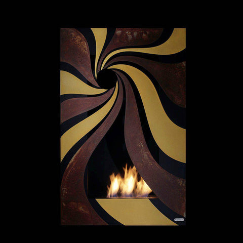 "Image of GlammFire Hypnosz EVOPlus Automatic Wall Mounted Ethanol Fireplace 28""-Modern Ethanol Fireplaces"