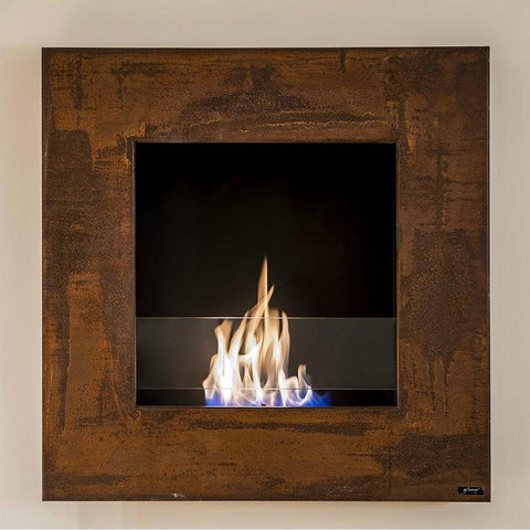 "Image of GlammFire Lotus EVOPlus Automatic Wall Mounted Ethanol Fireplace 32""-Modern Ethanol Fireplaces"