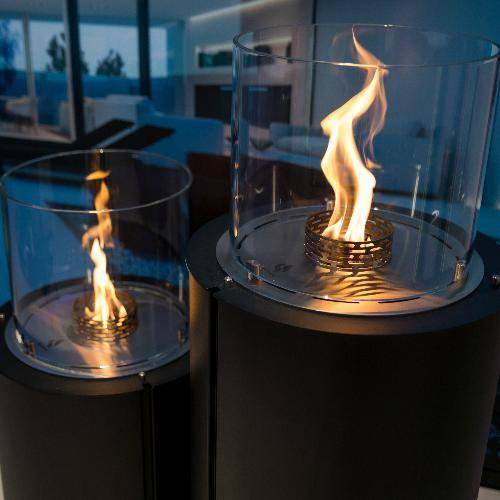 Decoflame Monaco Round Free-Standing Fireplace (Indoor / Outdoor)-Modern Ethanol Fireplaces