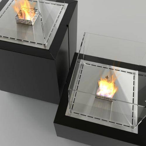 Decoflame Monaco Square Free-Standing Fireplace (Indoor / Outdoor)-Modern Ethanol Fireplaces