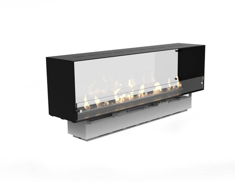 Image of Decoflame Montreal E-Ribbon 2 Sided Recessed Automatic Ethanol Fireplace-Modern Ethanol Fireplaces