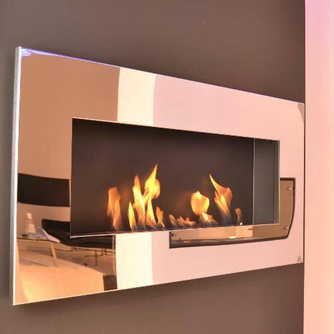 Decoflame New York Empire Wall Fireplace (White)-Modern Ethanol Fireplaces