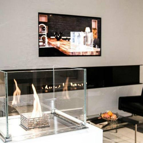 Decoflame Nice Built-In Burner Fireplace (Indoor / Outdoor)-Modern Ethanol Fireplaces