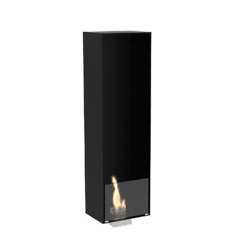 "Decoflame Paris 59"" Black Manual Ethanol Fireplace Insert-Modern Ethanol Fireplaces"