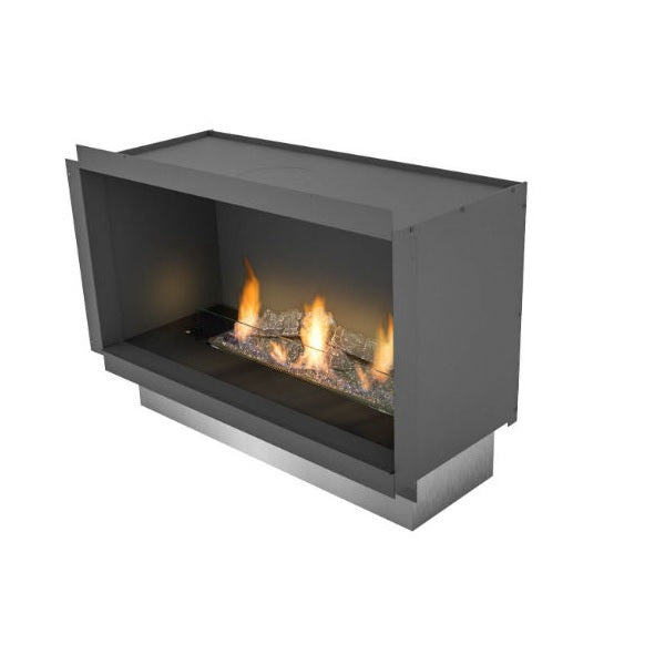 "Planika PrimeFire in Casing 27"" Black Recessed Ethanol Fireplace w/ Remote Control-Modern Ethanol Fireplaces"