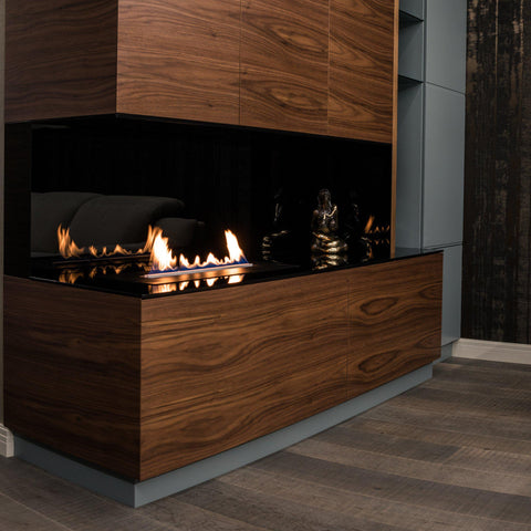 "Image of Planika Ethanol Fireplace Insert 27"" Prime Fire With Remote Control-Modern Ethanol Fireplaces"