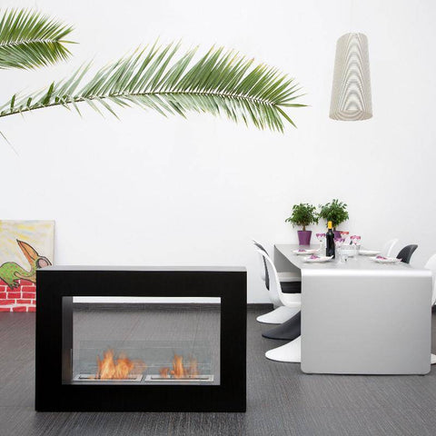 Bio-Blaze Qube Large Free Standing Ventless Fireplace-Modern Ethanol Fireplaces